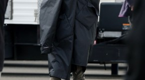Russell Crowe in costume on the set of &quot;Noah&quot; in Brooklyn.
